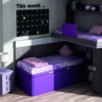 Dormitorios Modulares morado litera