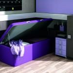 Dormitorios Modulares morado abierto