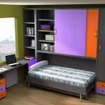 Dormitorios Modulares con escritorio y cama abierta