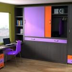 Dormitorios Modulares con escritorio y cama cerrada
