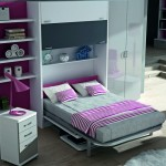 Dormitorios Modulares en blanco cama abierta