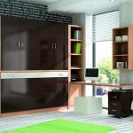 Dormitorios Modulares en negro con cama cerrada