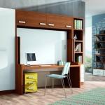 Dormitorios Modulares en madera con escritorio