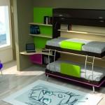 Dormitorios Modulares en rosas con camas abiertas
